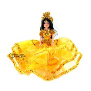 Boneca Cigana Pequena Amarela