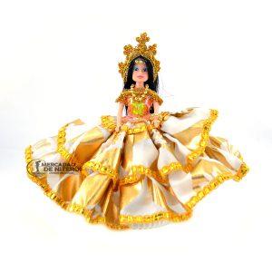 Boneca Cigana Pequena Amarela e Branca