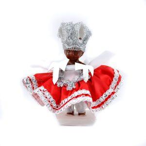 Boneco Orixá Xango Pequeno Vermelho